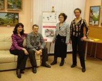 Открытие персональных выставок Ирины Малец и Александра Воронина , проект «О'становись, Мгновенье!». Библиотечно-информационный центр «Эльмашевский», 2010 год